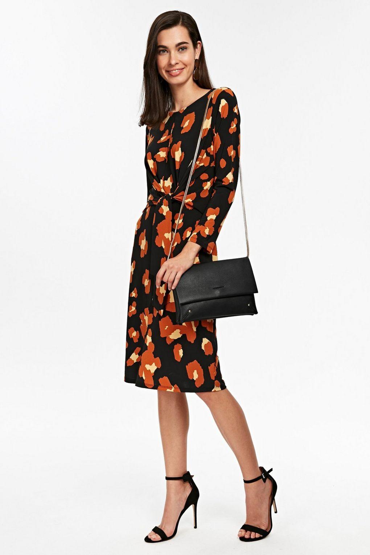 Black Animal Print Midi Dress, £45