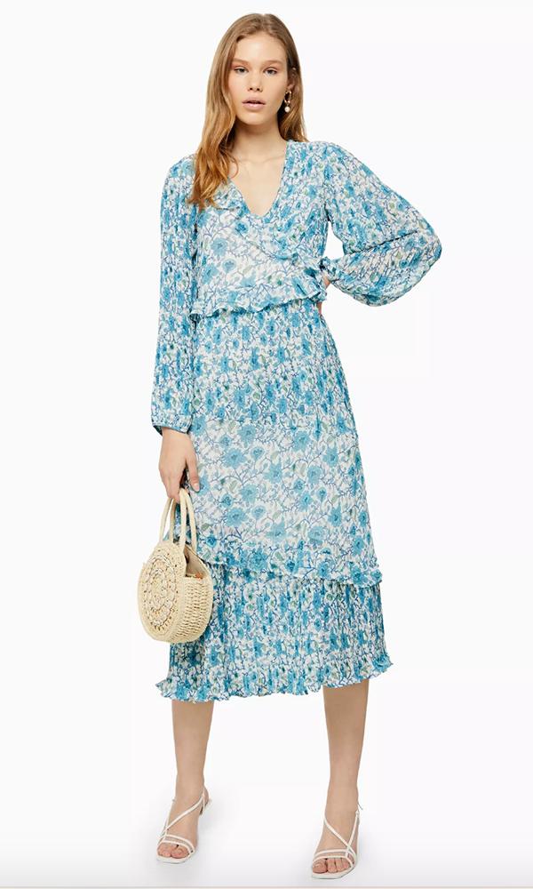 TOPSHOP: Floral Pleat Midaxi Dress, £49