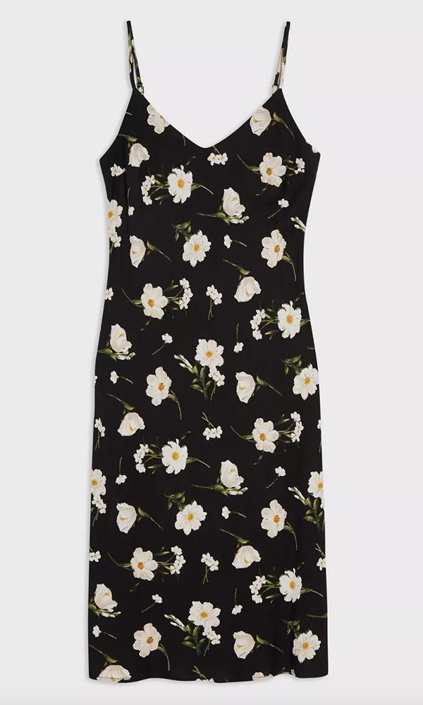 MISS SELFRIDGE: Black Daisy Printed Slip Dress, £25