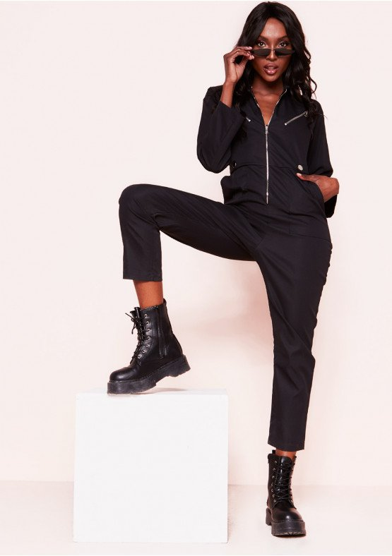Polly Black Utility Jumpsuit, £40