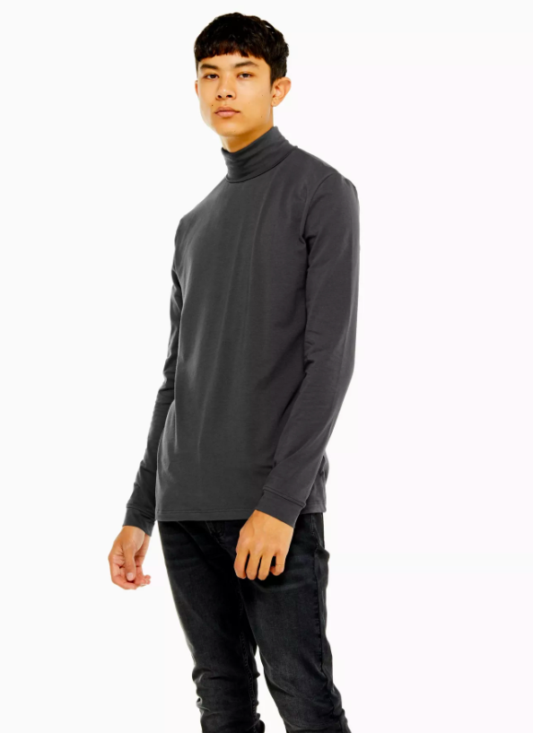 Charcoal Roll Neck T-Shirt, £15