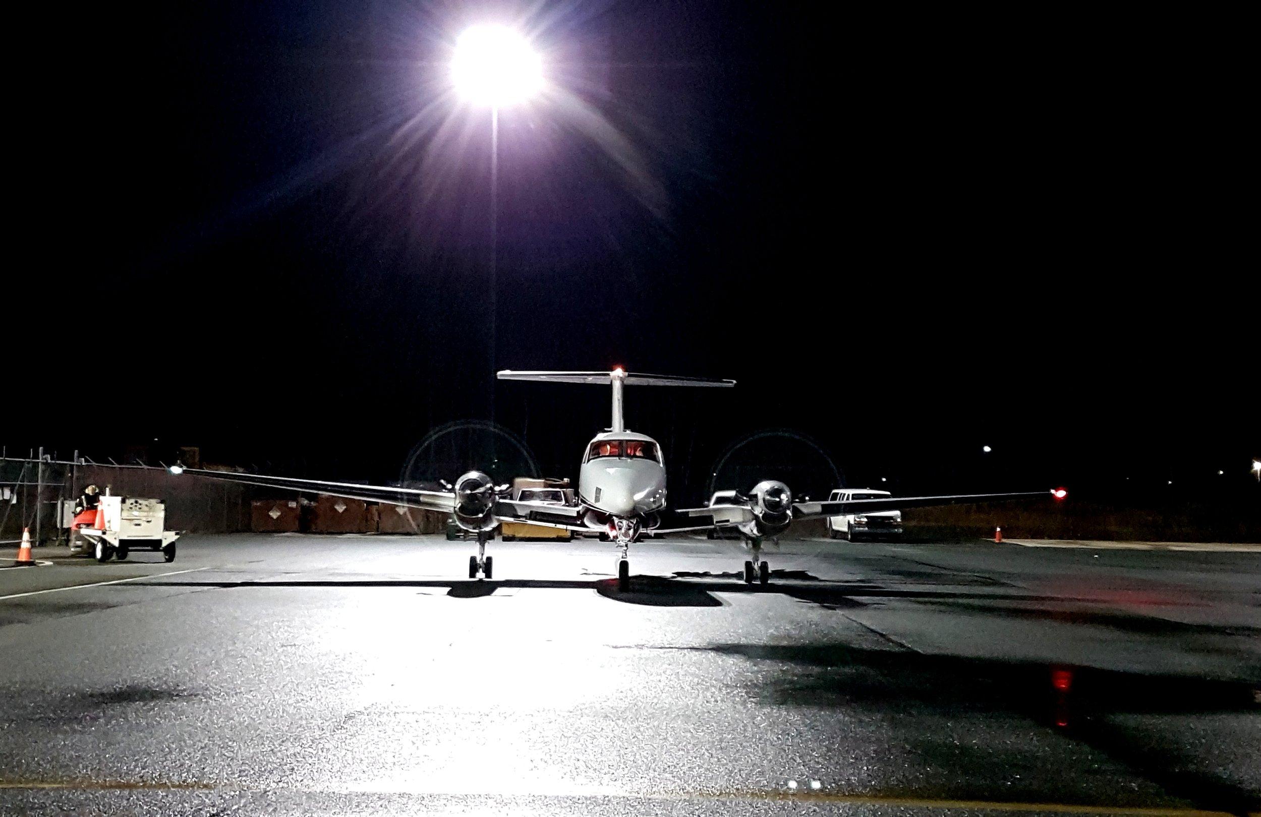 Maritime Air Charter preparing for a medevac charter
