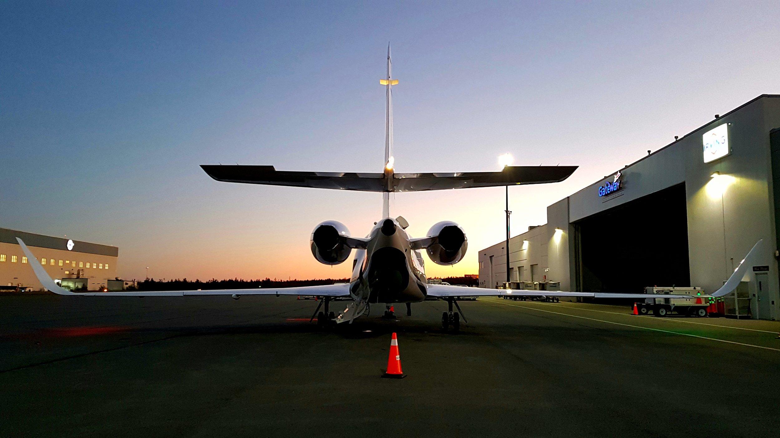 Beautiful Falcon 2000EX at sunset