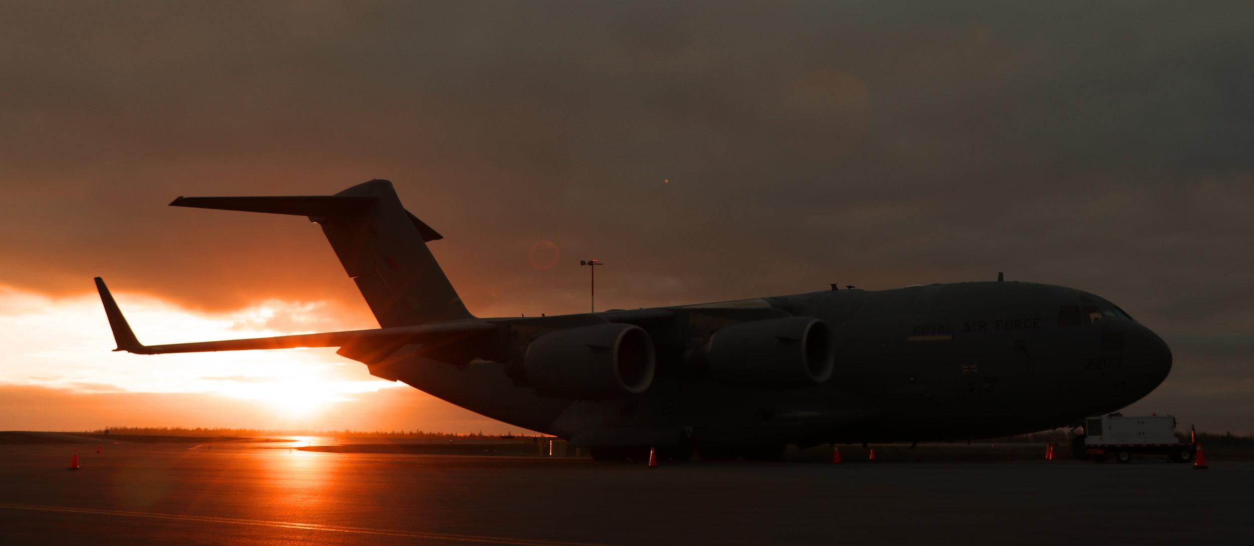 C17 at sunrise