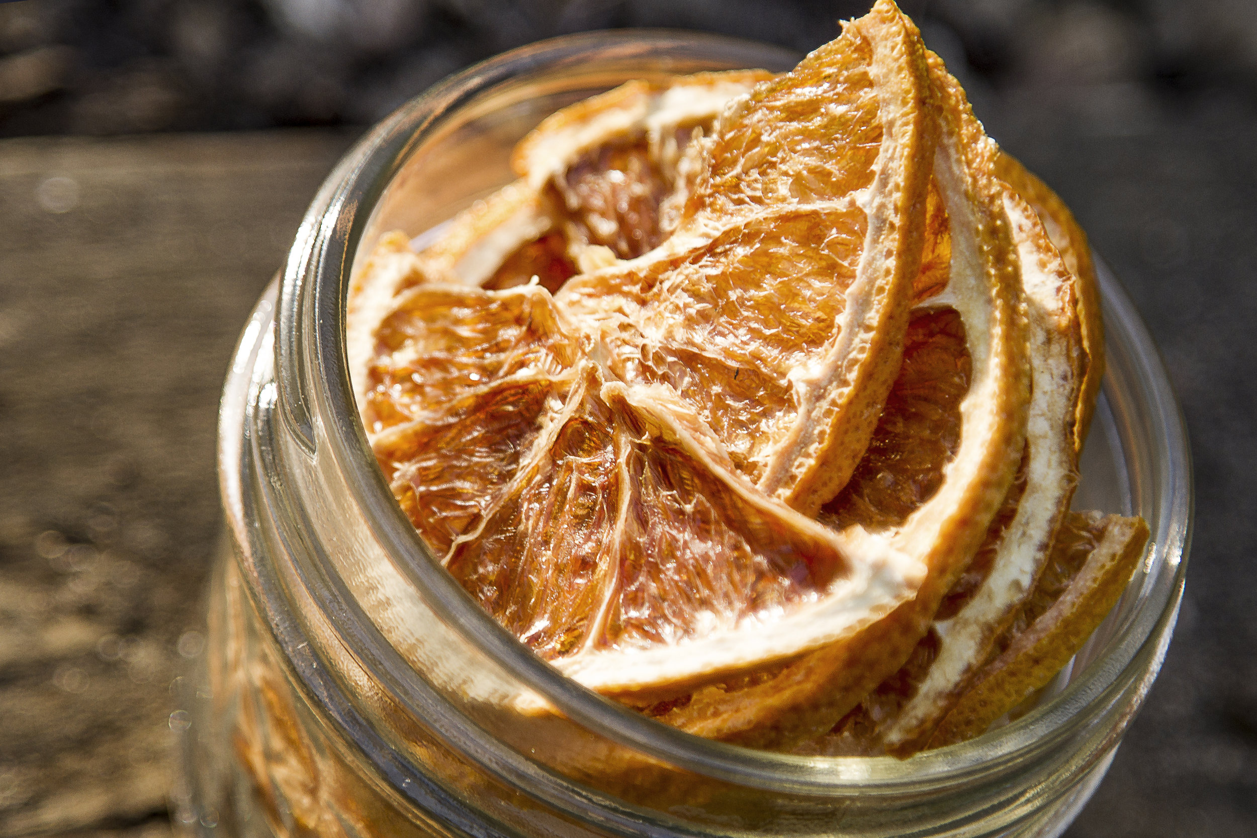 Serve with a curl of fresh or dried orange!