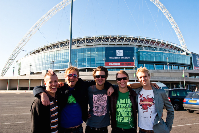 The gang, outside Wembley Stadium