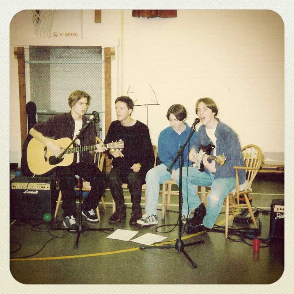 The band in our school days (that's me on the far left!).
