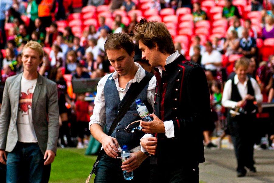 Pitchside at Wembley Stadium
