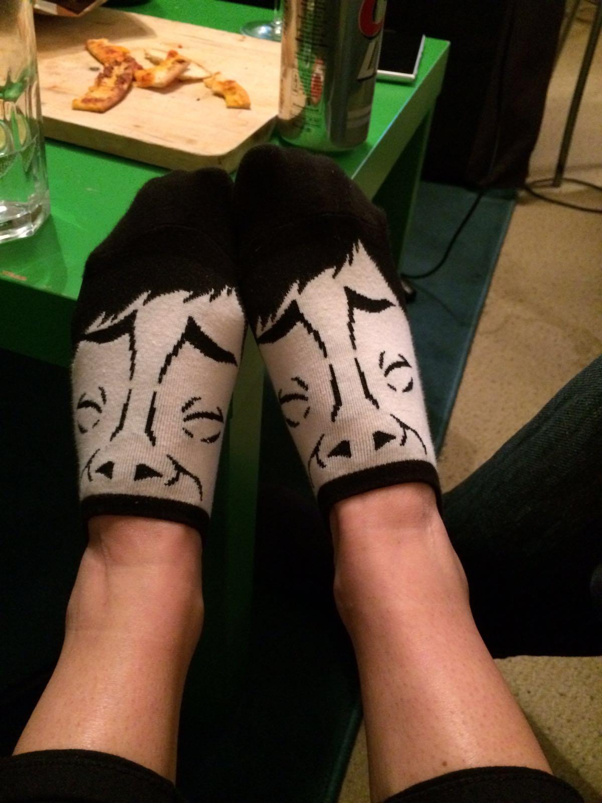Kat's racist socks