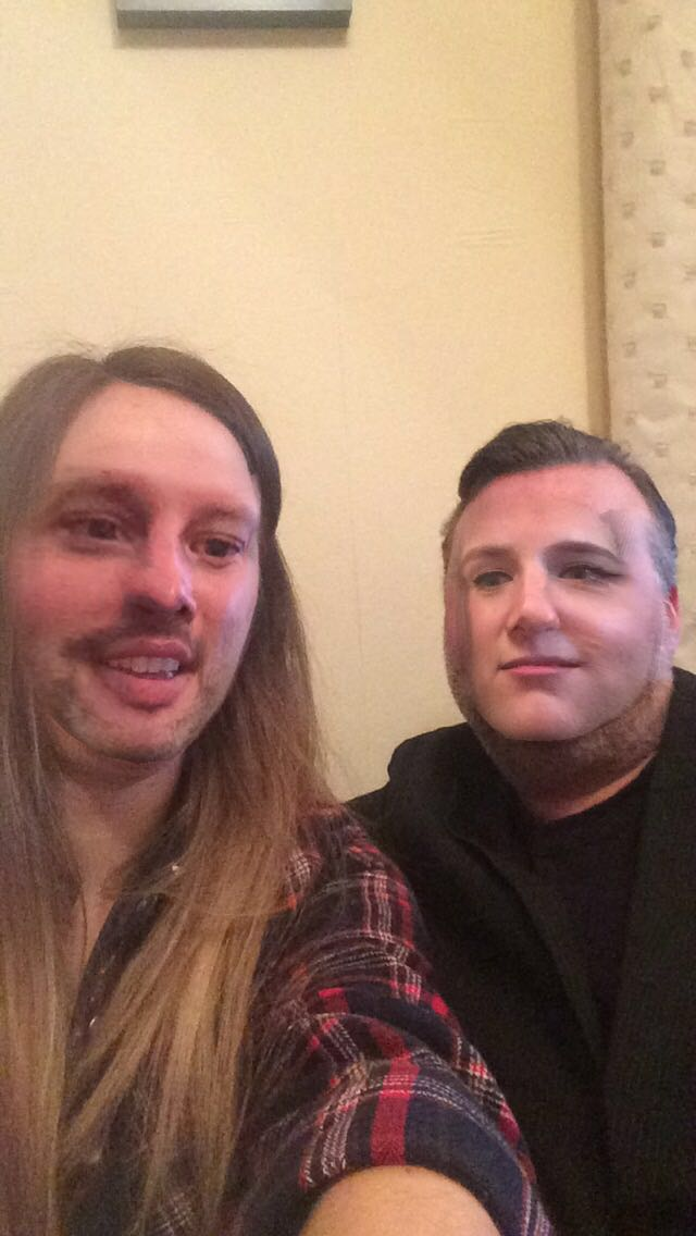 Kat and Pete faceswapping.