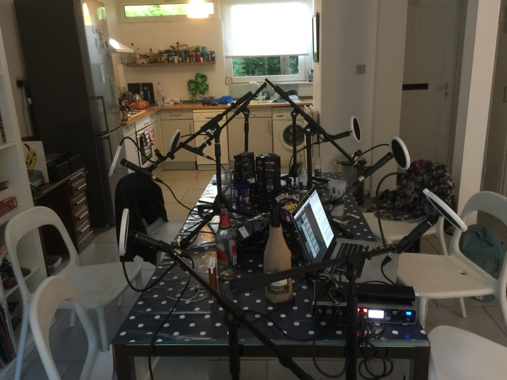 Tonights podcast studio