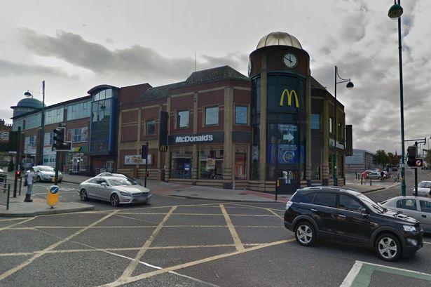 Stockport - where McDonalds is a major landmark