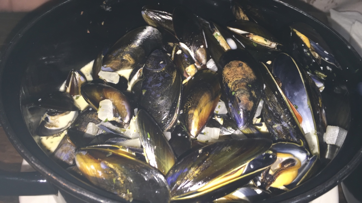 The actual mussels from Pete's story