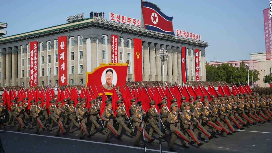 The north Korean army, modelled on pete's bowel performance