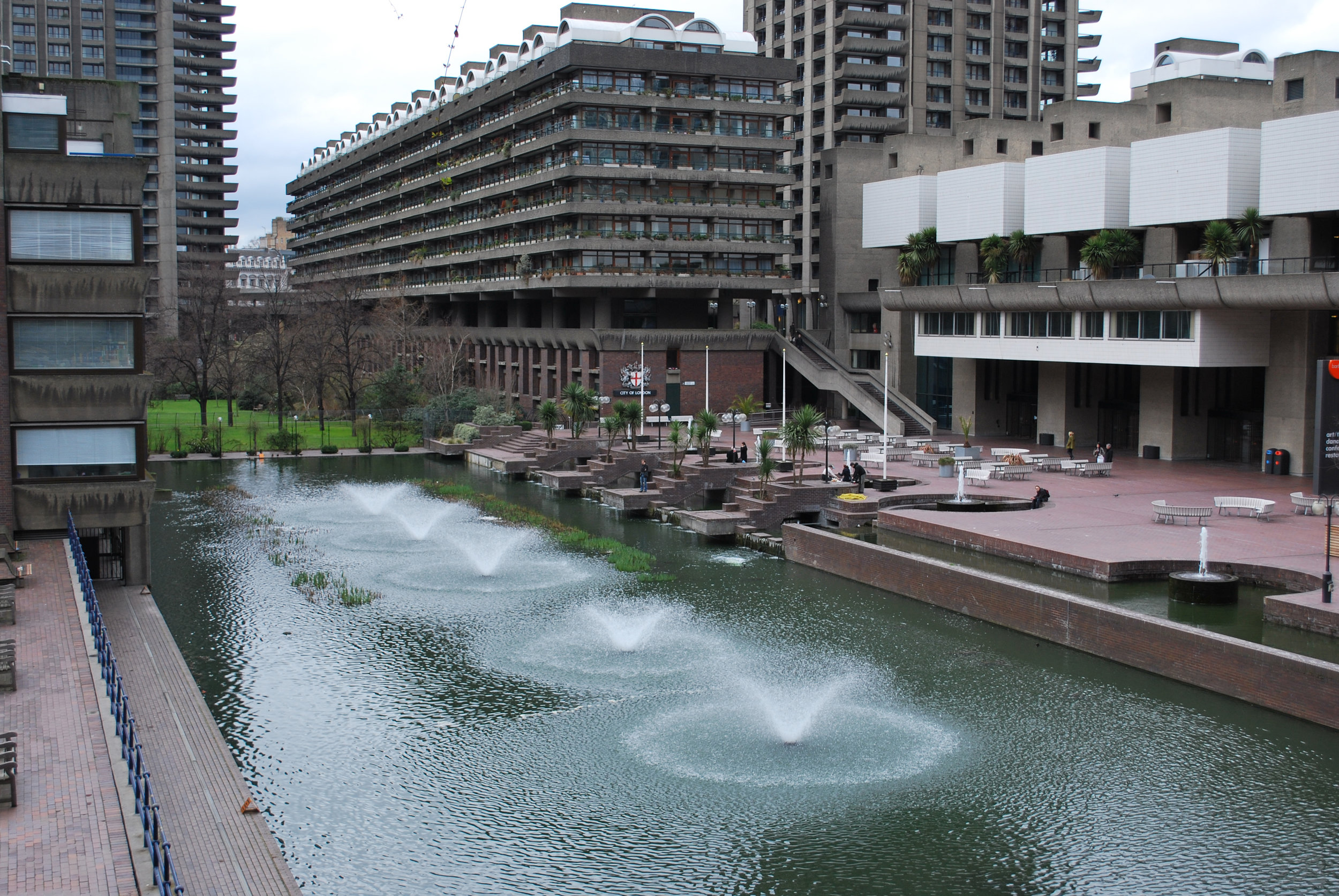 The Barbican complex - One of Pete's favourite bits of London