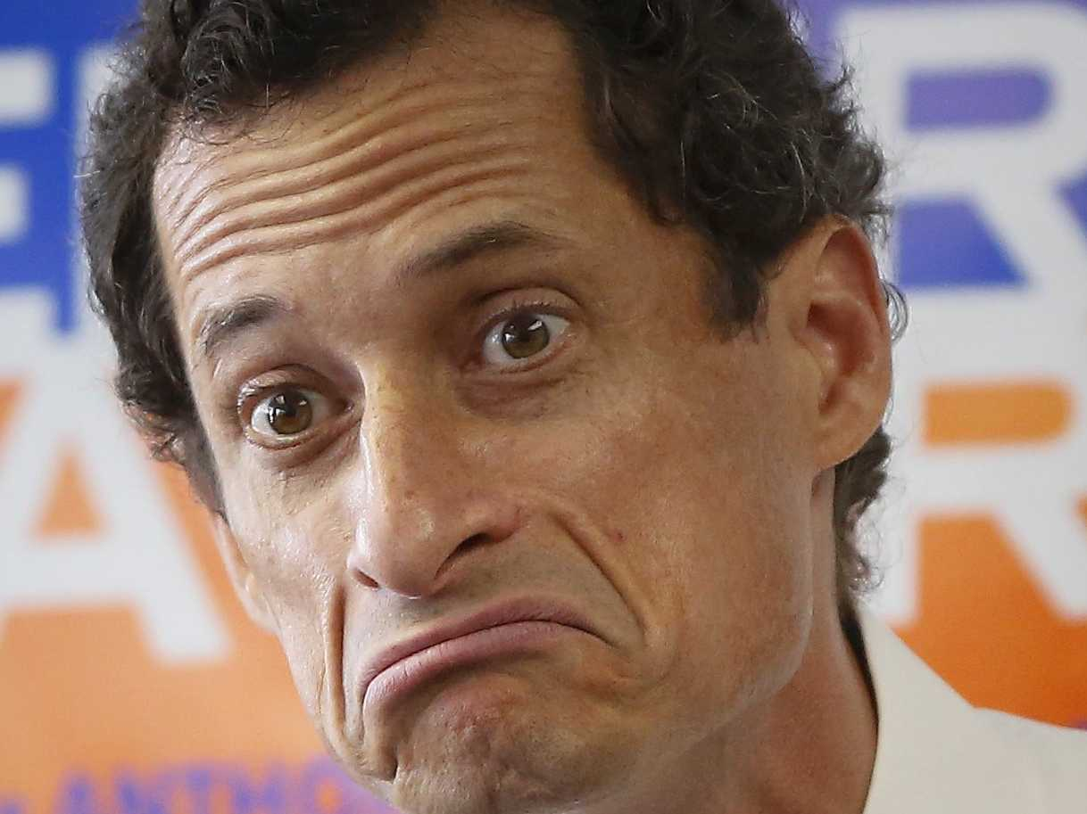 Anthony Weiner - his surname is fairly appropriate