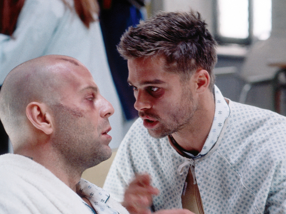 12 Monkeys - Pete was a zonked out as Bruce Willis in this scene when he was flying