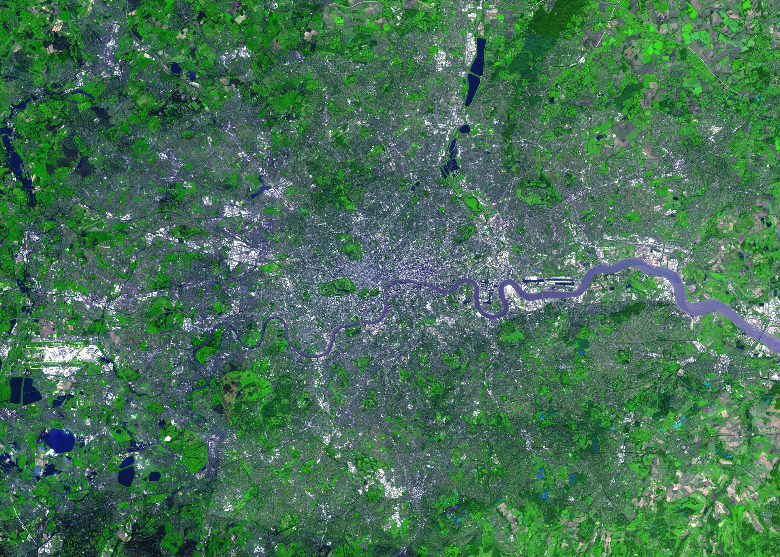 London - Slightly wider than tall (Heathrow is the big white thing on the left of the photo)