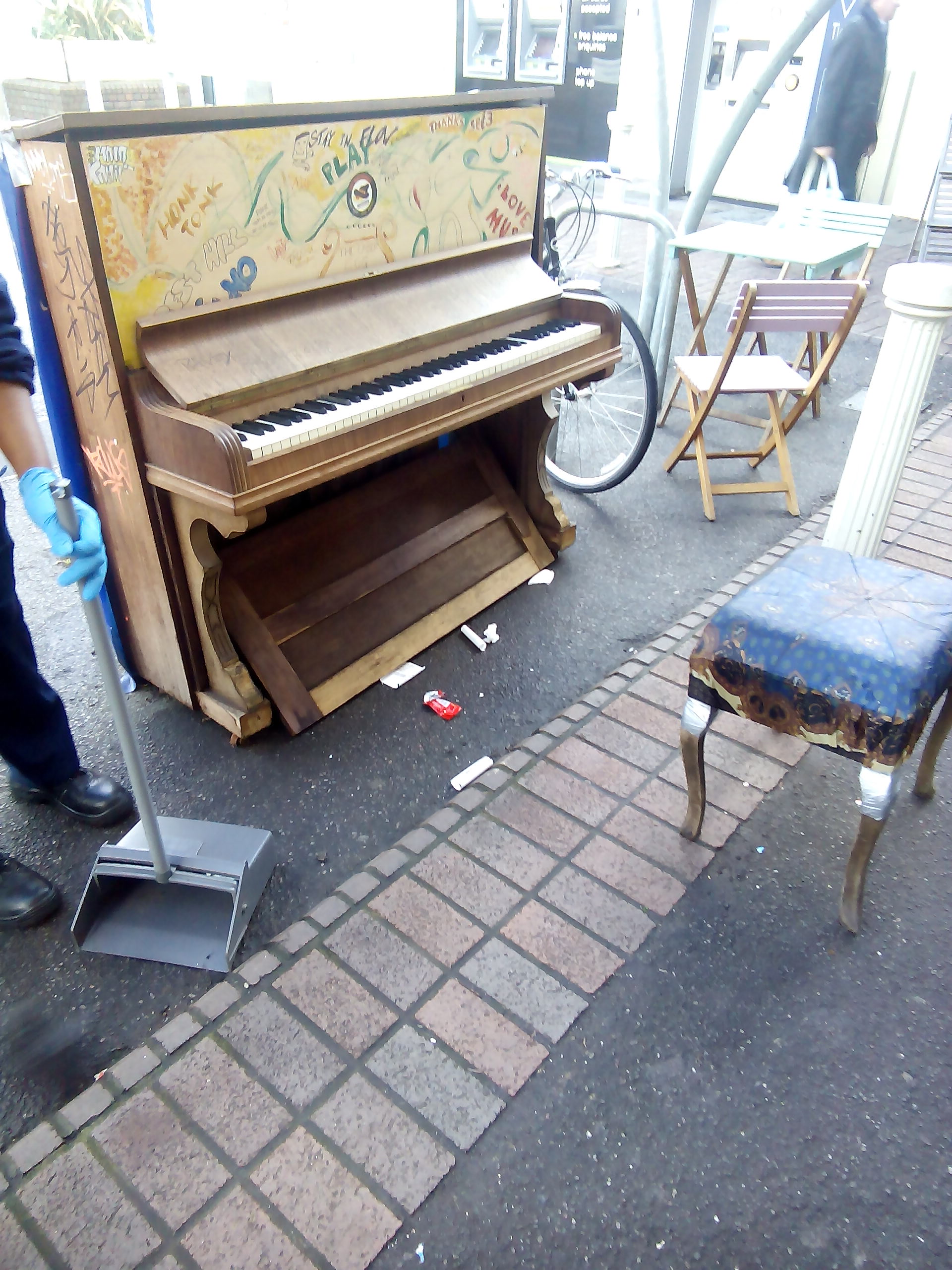 A piano yesterday