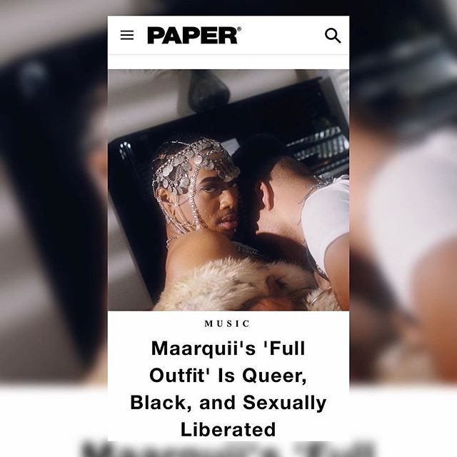 """Congratulations to @maarquii and @evanjamesbenallyatwood on the launch of """"Full Outfit"""" Music video!!!! And being featured on @papermagazine today!!!! #fulloutfit drops today y'all! """"When I was initially setting creative for 'Full Outfit,' it was challenging in the beginning"""" Maarquii says. """"It was really important that the visual, throughout its entirety, read almost like a live look-book. On top of that, I also wanted it to live almost as a vignette of what sexual liberation and Blackness feels like to me personally. I'm so grateful and proud of this work"""" - @maarquii  Yay! So happy this dropped, please check it out on youtube and @papermagazine today.  Artist: Maarquii - @maarquii Production Company: @joopjoop.creative Producers: Philip @phillybeez and Fran: @joopjoop.creative Directors: Evan @evanjamesbenallyatwood and Marquise @maarquii  DP: Padraic @padraicomeara Stylist: Sean @seanchamberlain Stylist + Décor: Diona @switchbladesistasvintage Makeup Artist + Dancer: Kerry @yamaucci 1AC + Gaffer: Kanon @wonderkanon Production Assistant: Rachel  BTS + Photo: Nash @saysomthin  and  Renee @misslopezmedia  Catering day 1: Lauren @mothermanzanita  Catering day 2: Nikeisah @meals4heels ls4heels  Craft Services:  Actor: David @davidgrandfield Choreographer + Dancer: TJ @tjyale Dancer: Lyric @lyric_ranea Dancer: Britan @boi_red5 Dancer: Kindell @kindell.mcintosh Dancer: Grace @g_r__a__c__e Dancer: Akela @akelajaffi Picture Car """"Lupé"""": Glynis  Special thanks to: Mirpanda, Karma, Lynsay, Quinn, Melisa, Frank, Brandon, Karen, Sara, Little Griddle, William, Benjamin, Greg & David  #Maarquii #musicvideo #joopjopp #portland #woc #poc #film #filmmaking #nobudget #rap #hiphop #musician #newmusic #music #artist #love #song #singer #rnb #musicians #video #writer #bipoctalent #blackfemme #bipocset #set #setlife"""