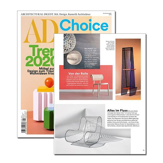 Many thanks to Architectural Digest to publish our ANDY Chair in their AD Choice Trend Report ✨ #adcoice #archdigest #architecturaldigest #andychair #studiomarfa #trends2020 #cane #wienergeflecht #designstudio #productdesign #interiordesign #ad #chair #woodenchair #viennesecane #hamburg #milanreport #milan #salonesatellite #salonesatellite2019 #milandesignweek #milan #newtrends