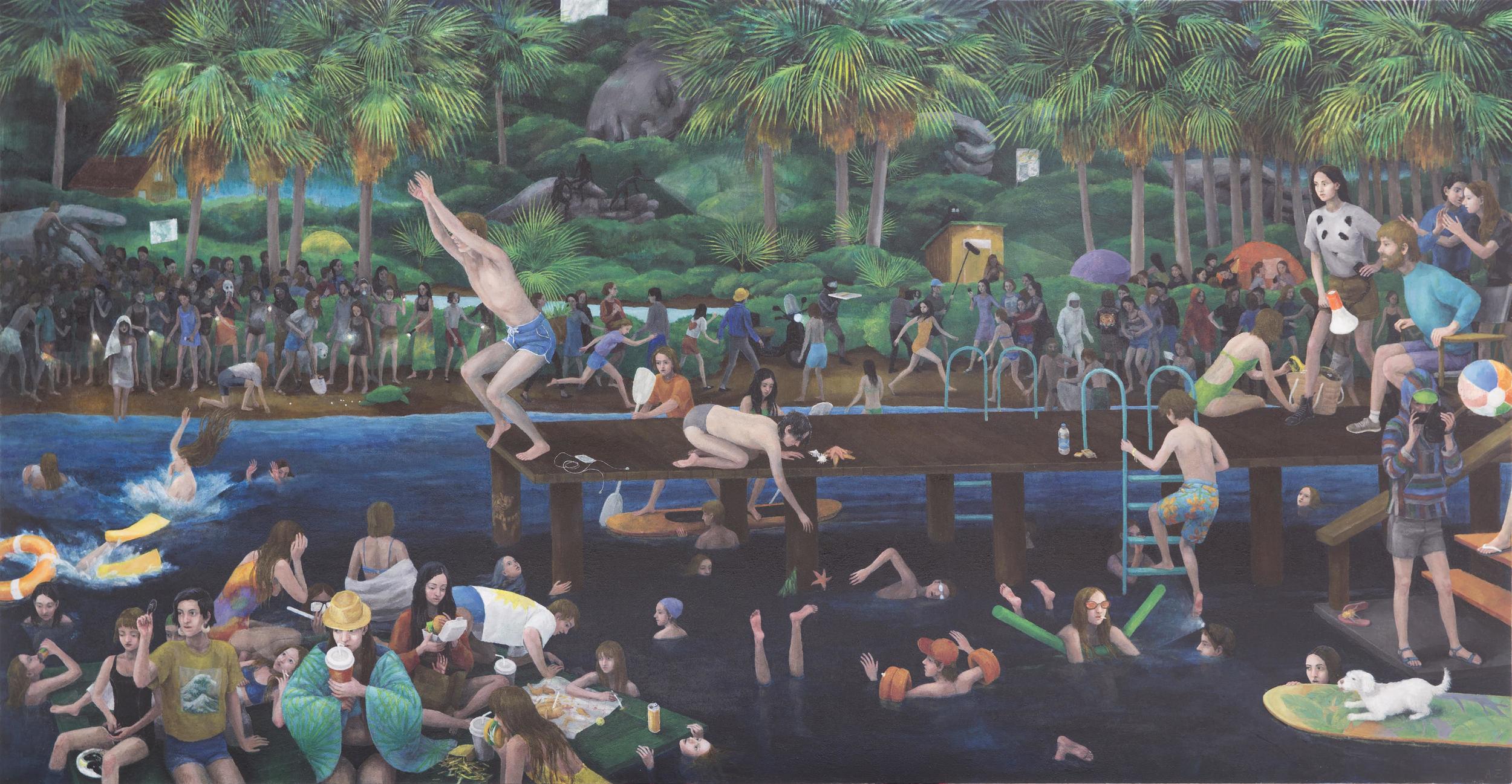Oil on canvas, 120x230cm
