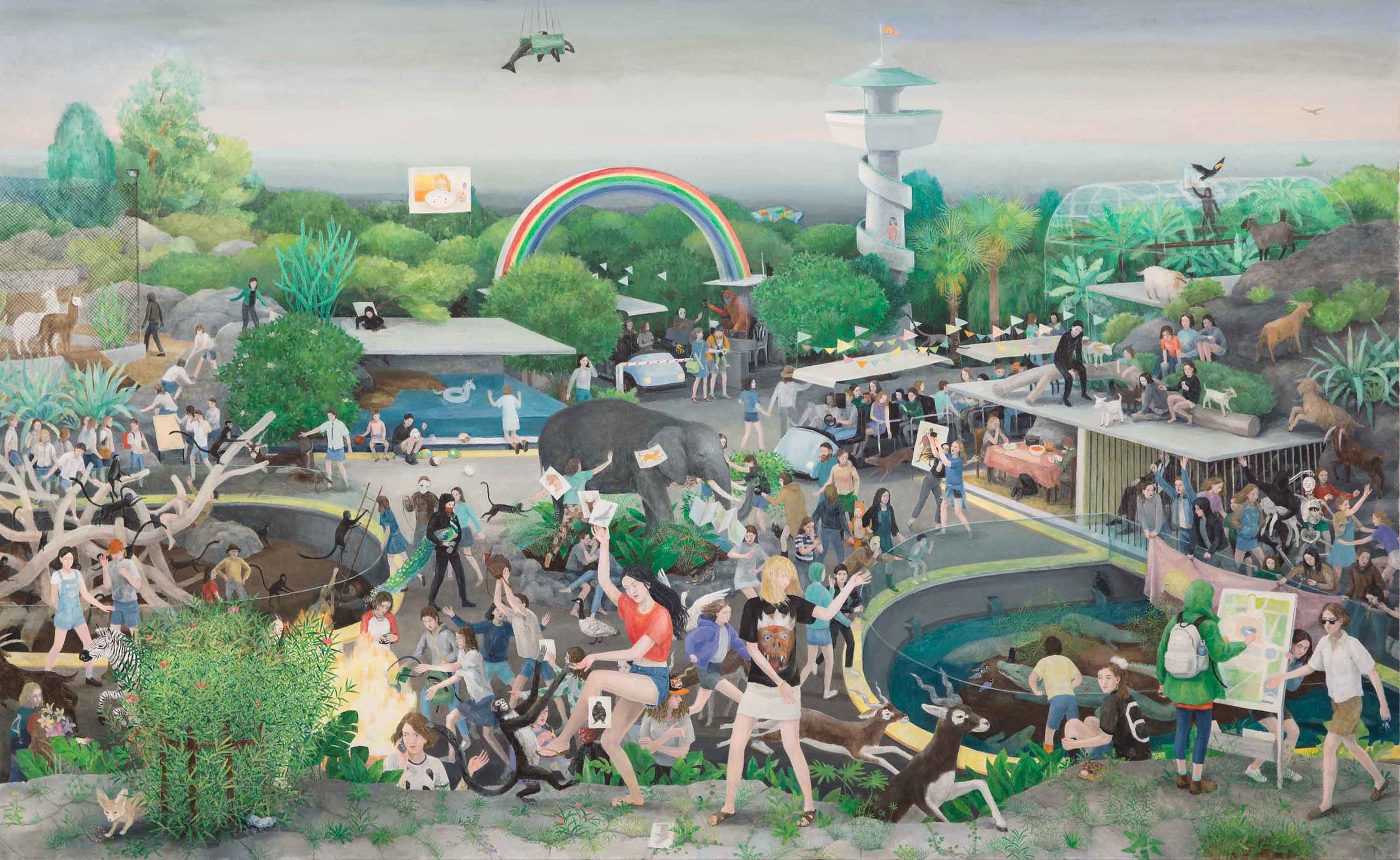 The Last Day of the Zoo, 170x235 cm, Oil on Canvas