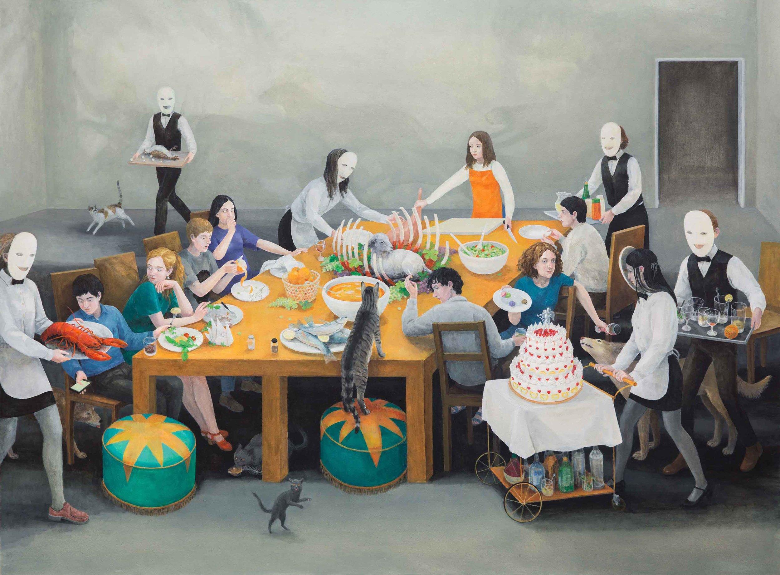 Feast, 170x230cm, Oil on Canvas