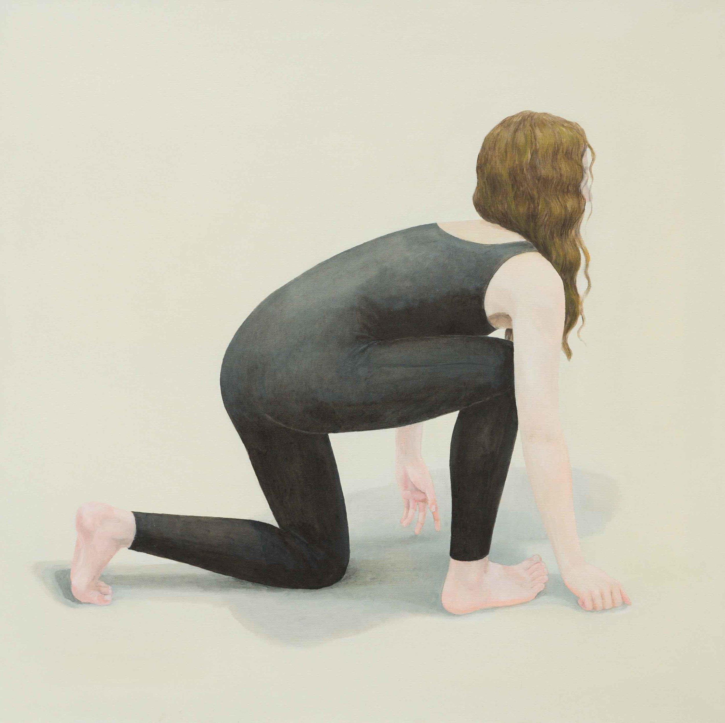 Escape 4, 120x120m cm, Oil on Canvas