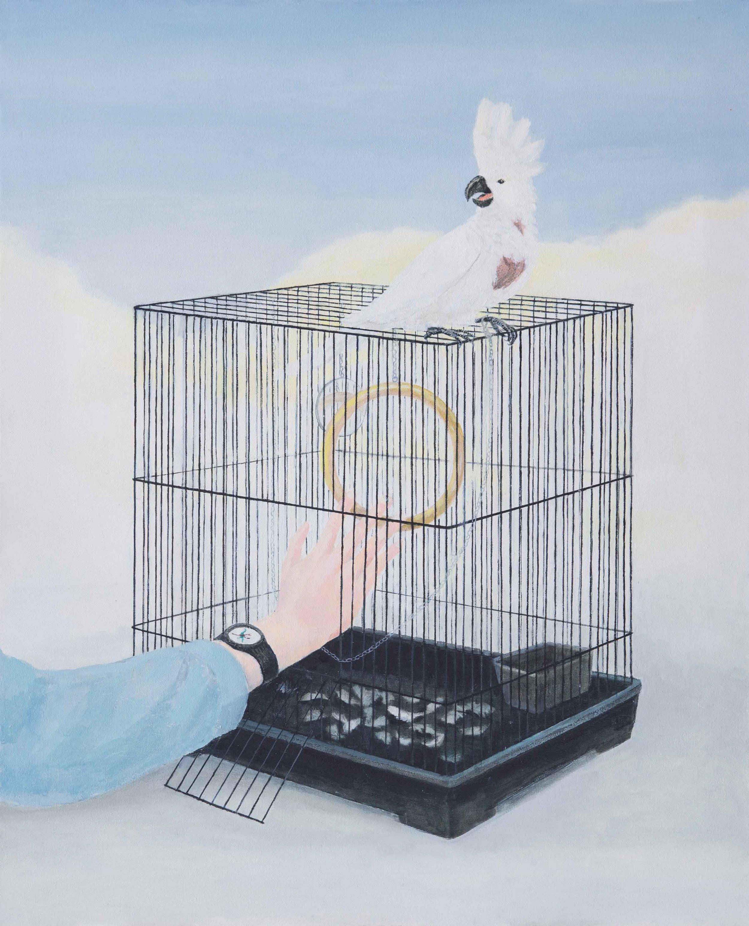 Escape 3, 90x80 cm, Oil on Canvas