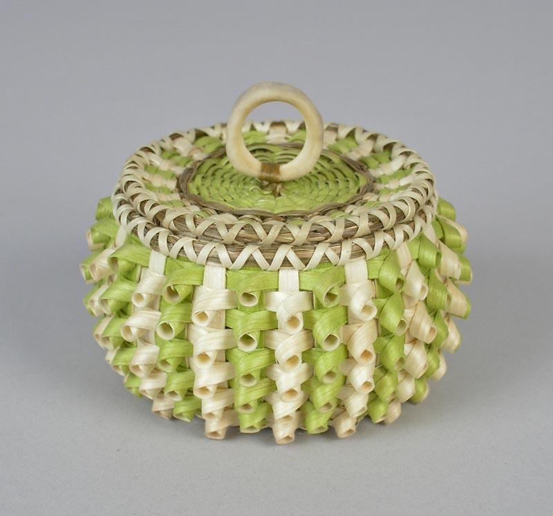 2010-08-002 Sarah Sockbeson miniature green curly basket (1).jpg
