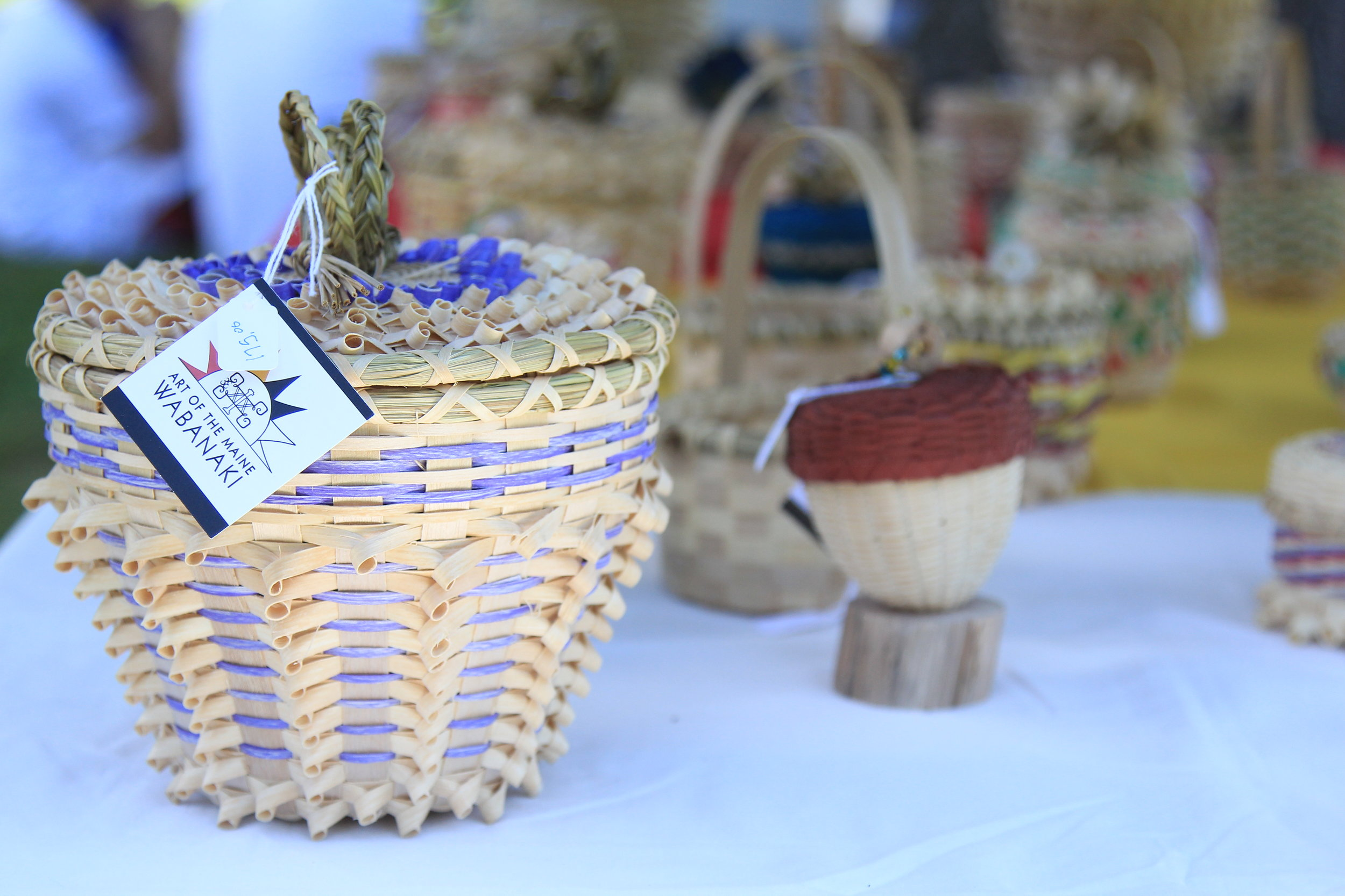 Baskets by Gerald Jacobs, Passamaquoddy.JPG