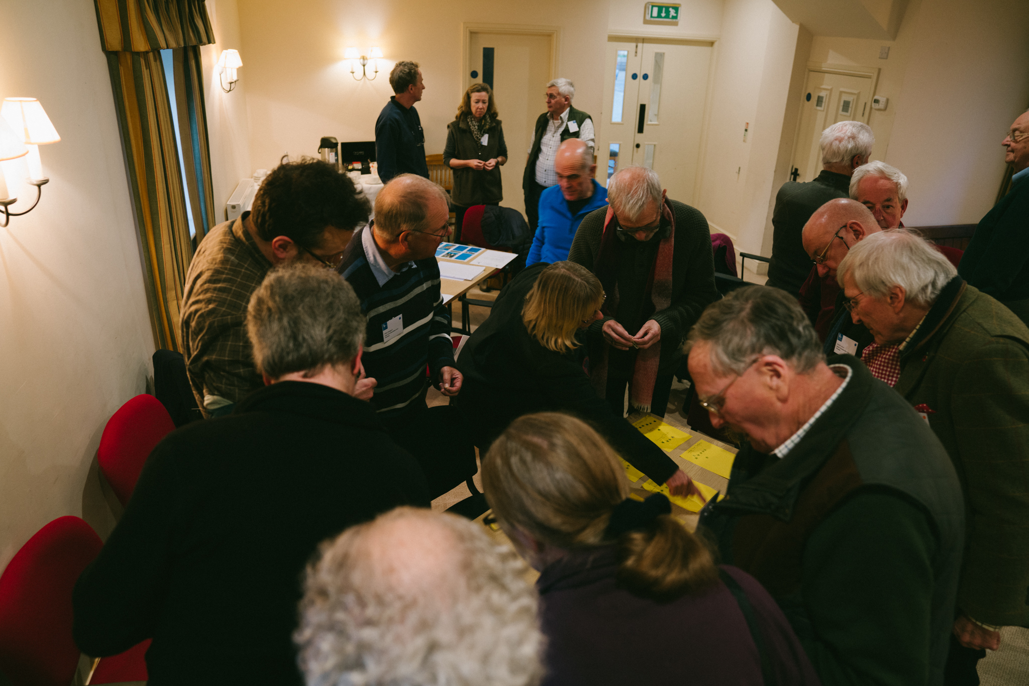 The scuffle when voting for suggested changes to Nosterfield - a lively and engaged audience!