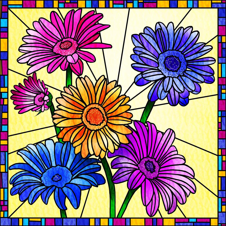 FLOWERS IN THE SUN – Design Ref. 2582