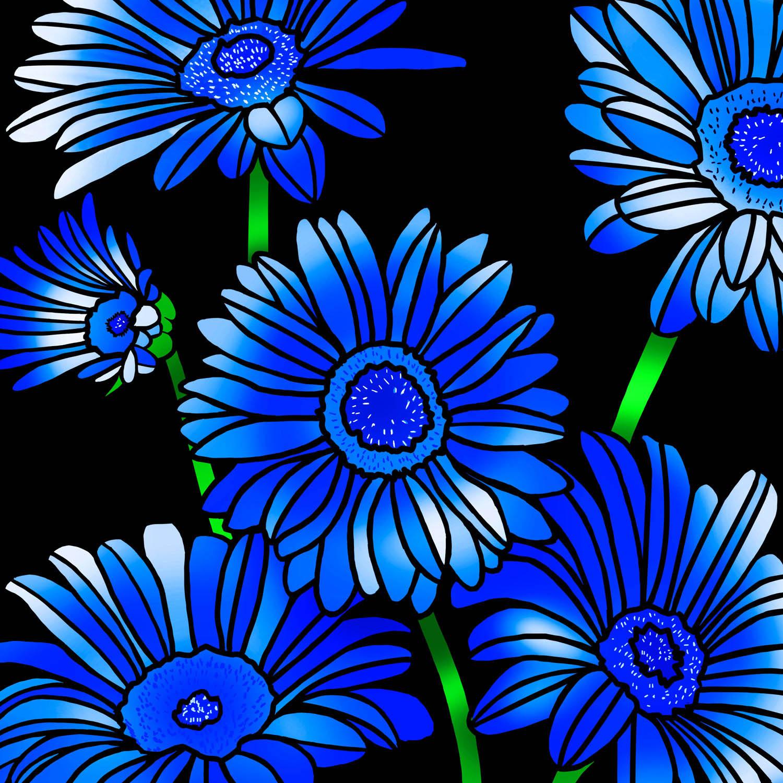 BLUE ON BLACK – Design Ref. 2600