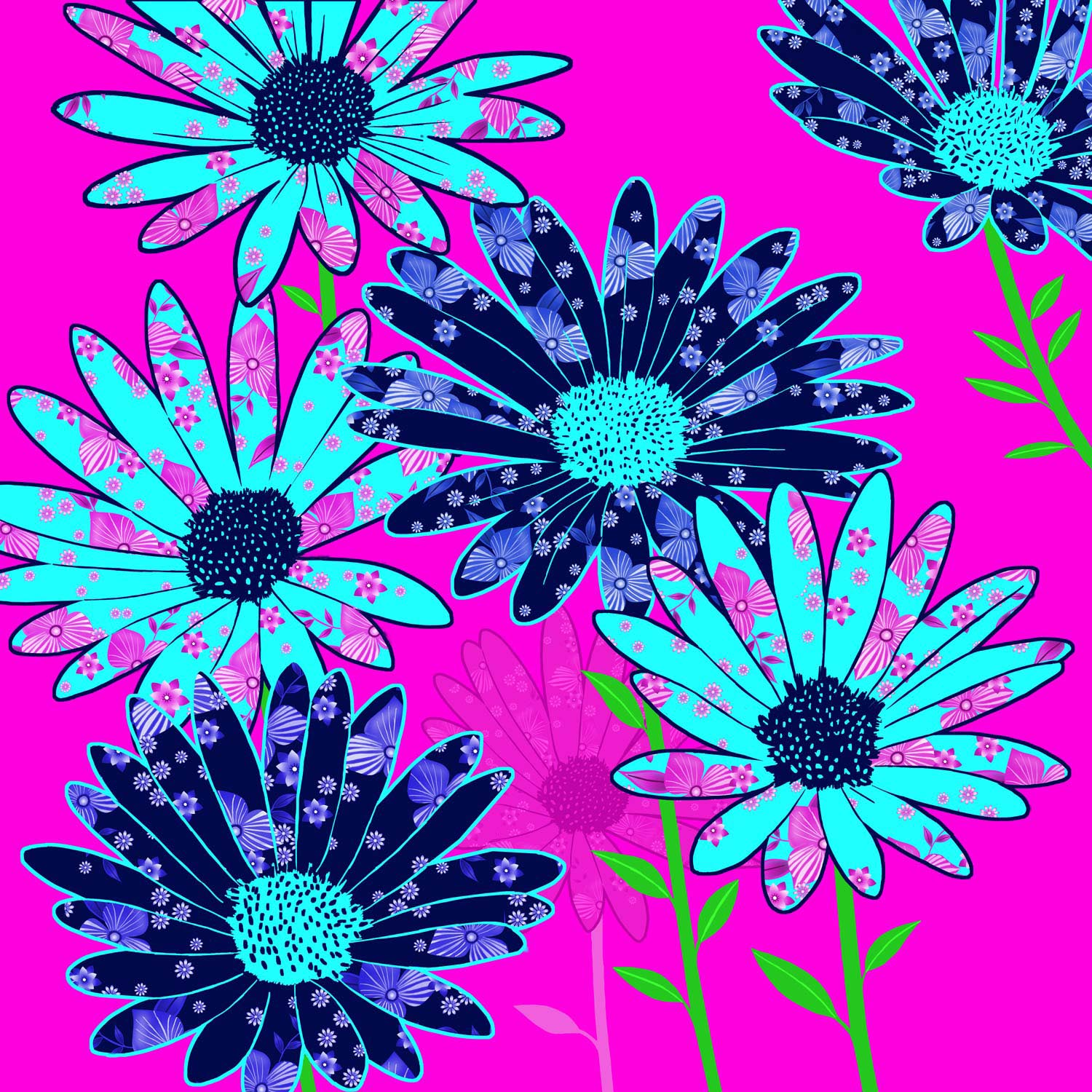 DAISIES IN THE PINK – Design Ref. 2551