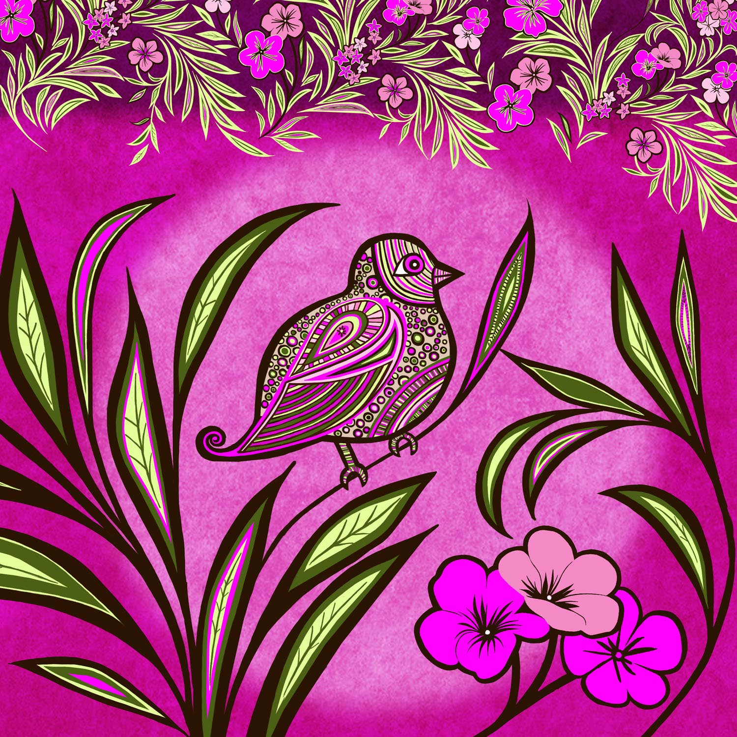 PATTERNED BIRD – Design Ref. 2454