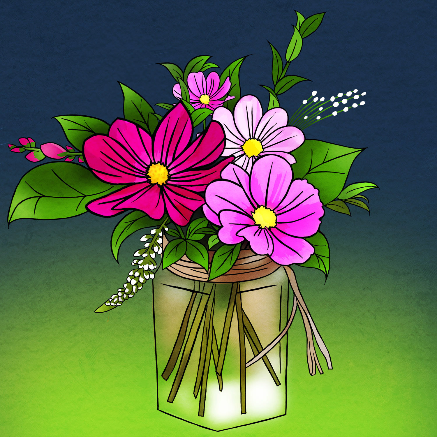 FLOWERS IN A JAR – Design Ref. 2474