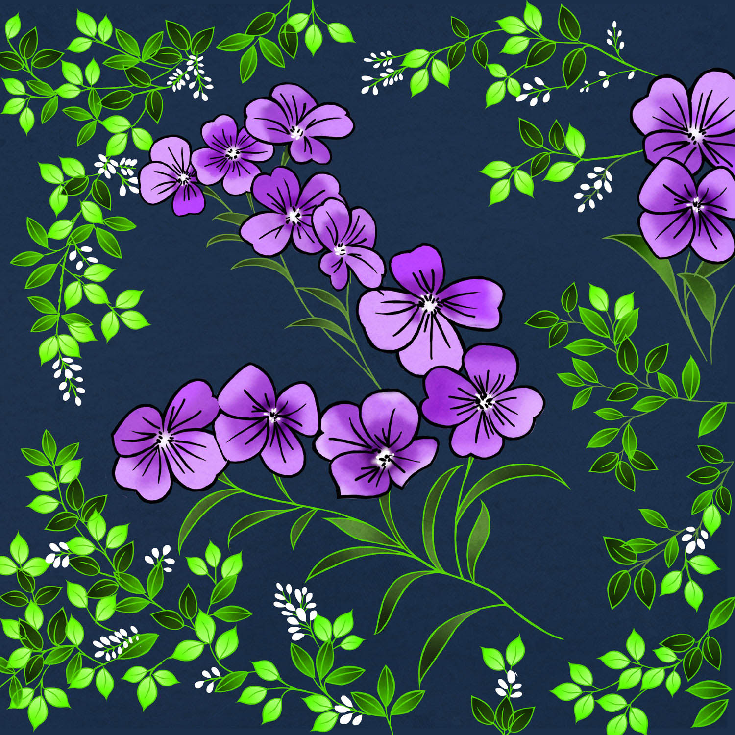 PURPLE BLOSSOM – Design Ref. 2478