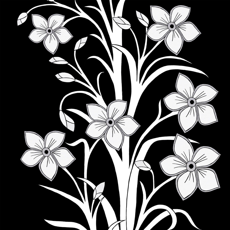 FLORAL - BLACK & WHITE