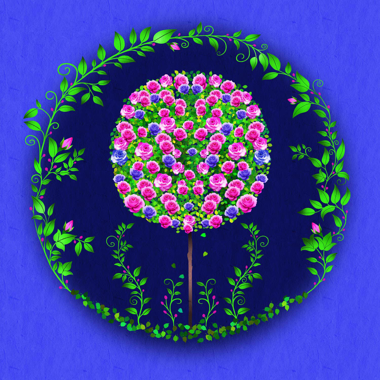 PINK ROSE TREE – Design Ref. 2618