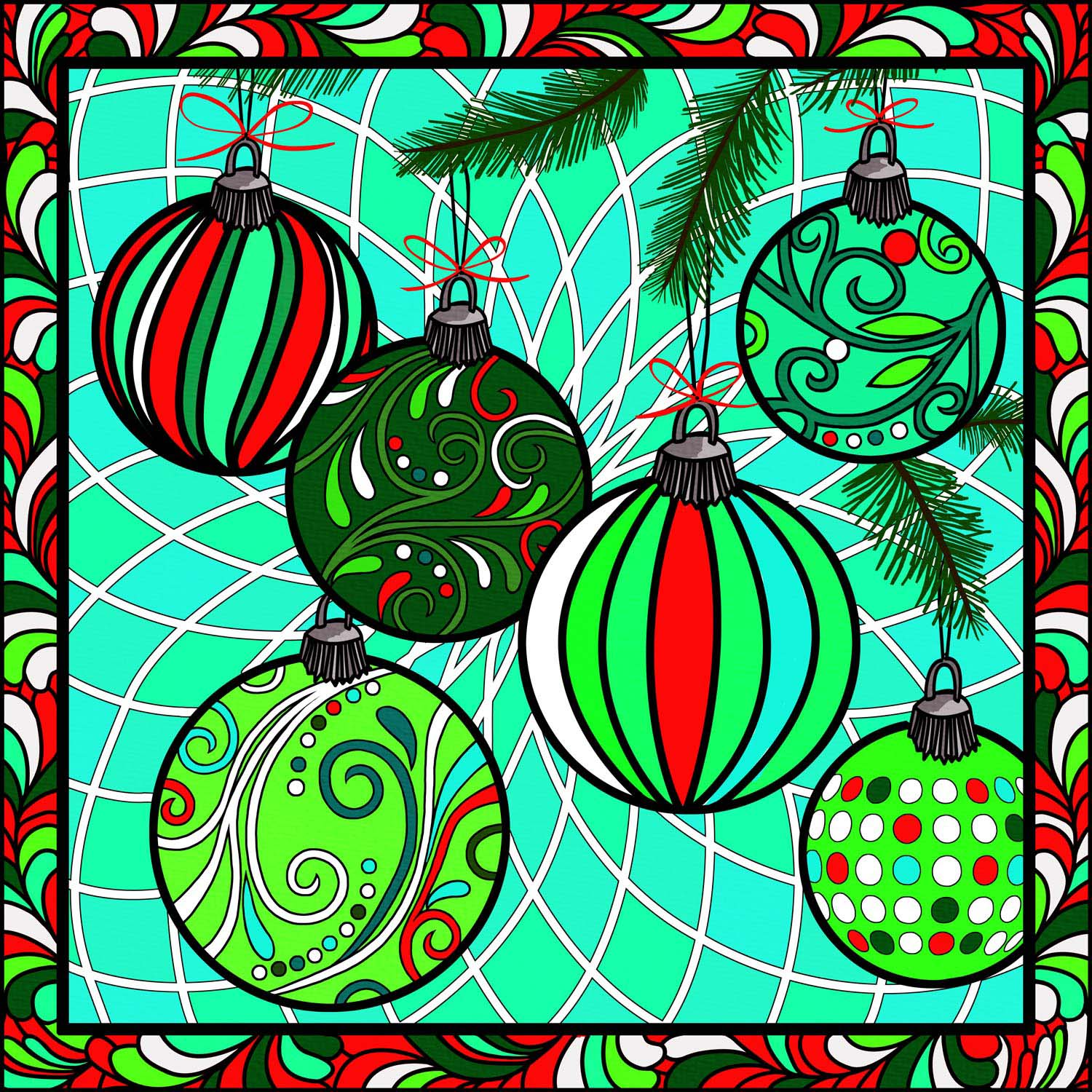 CHRISTMAS BAUBLES – Design Ref. 2629