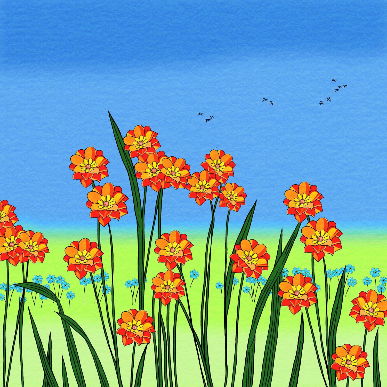 FIELD OF FLOWERS – Design Ref. 2425