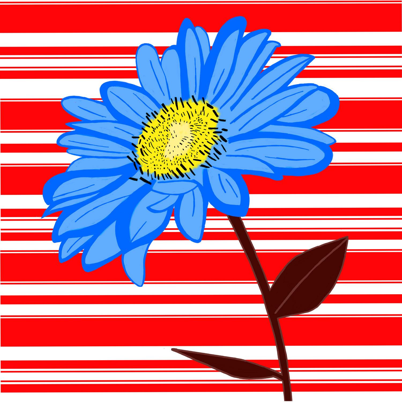 BLUE DAISY – Design Ref. 2099