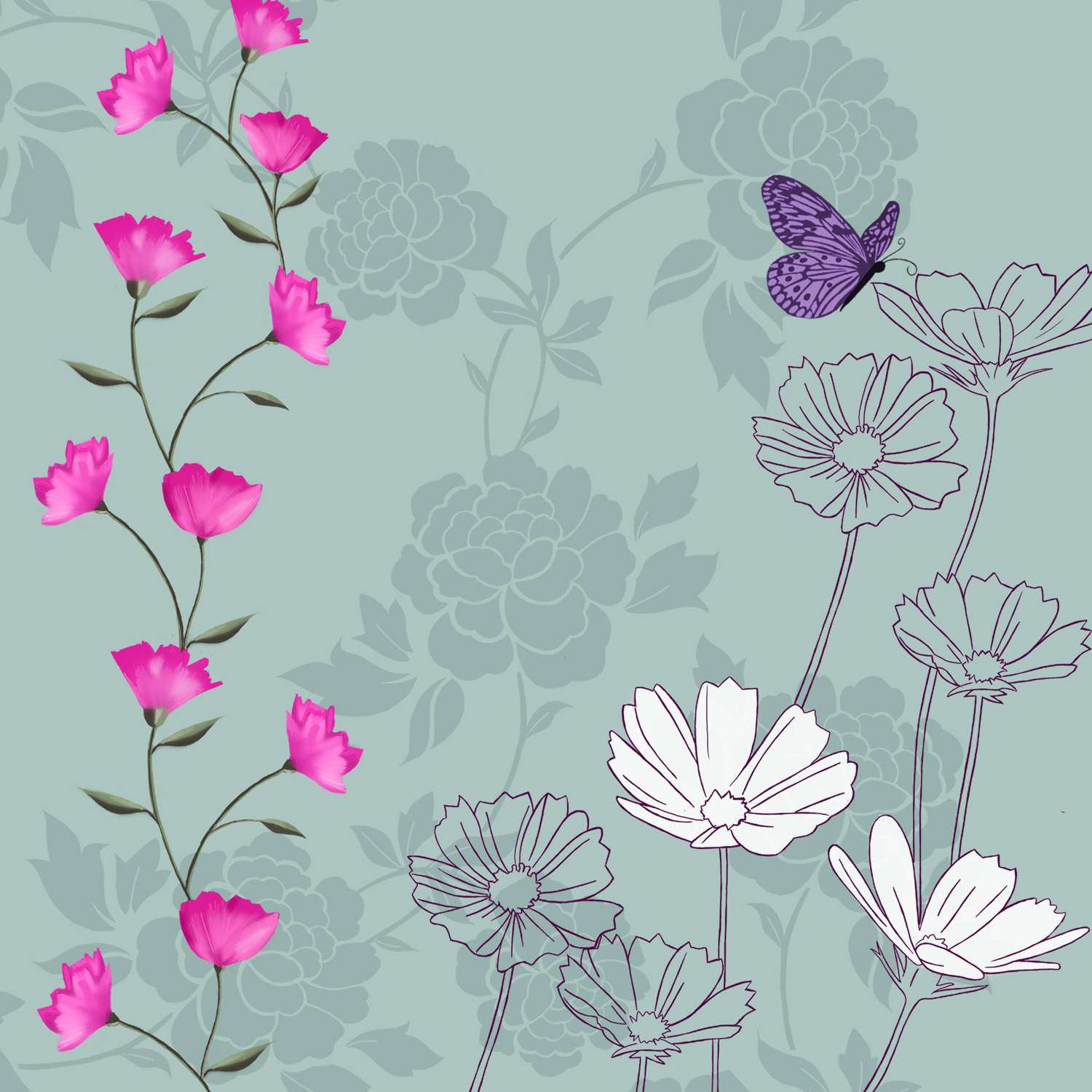 BUTTERFLY CALLING – Design Ref. 2165