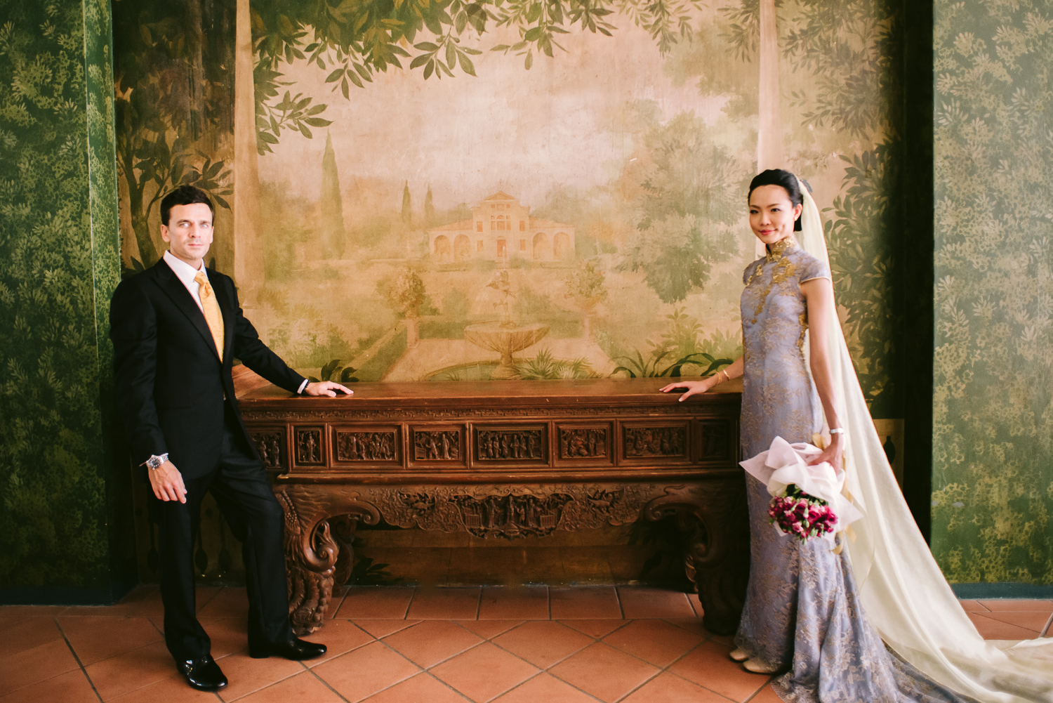 Rare antique spotted at Raffles Hotel