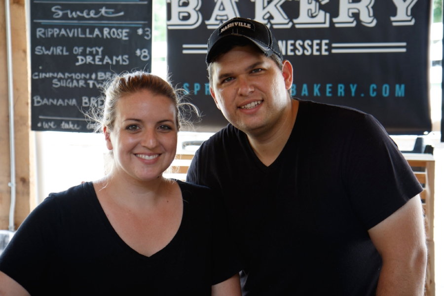 Sarah, owner of Spring Hill Bakery and her husband Corey.