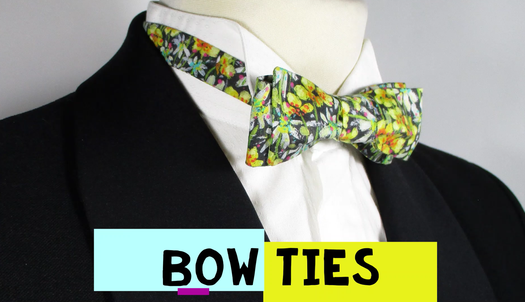 Our self tie bows are sustainably handmade in Scotland from reclaimed vintage!