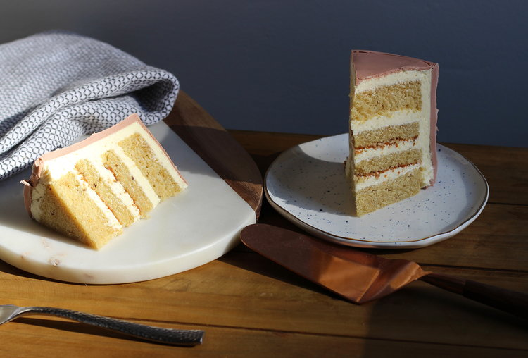 Vanilla Rye Cake with Ermine Buttercream