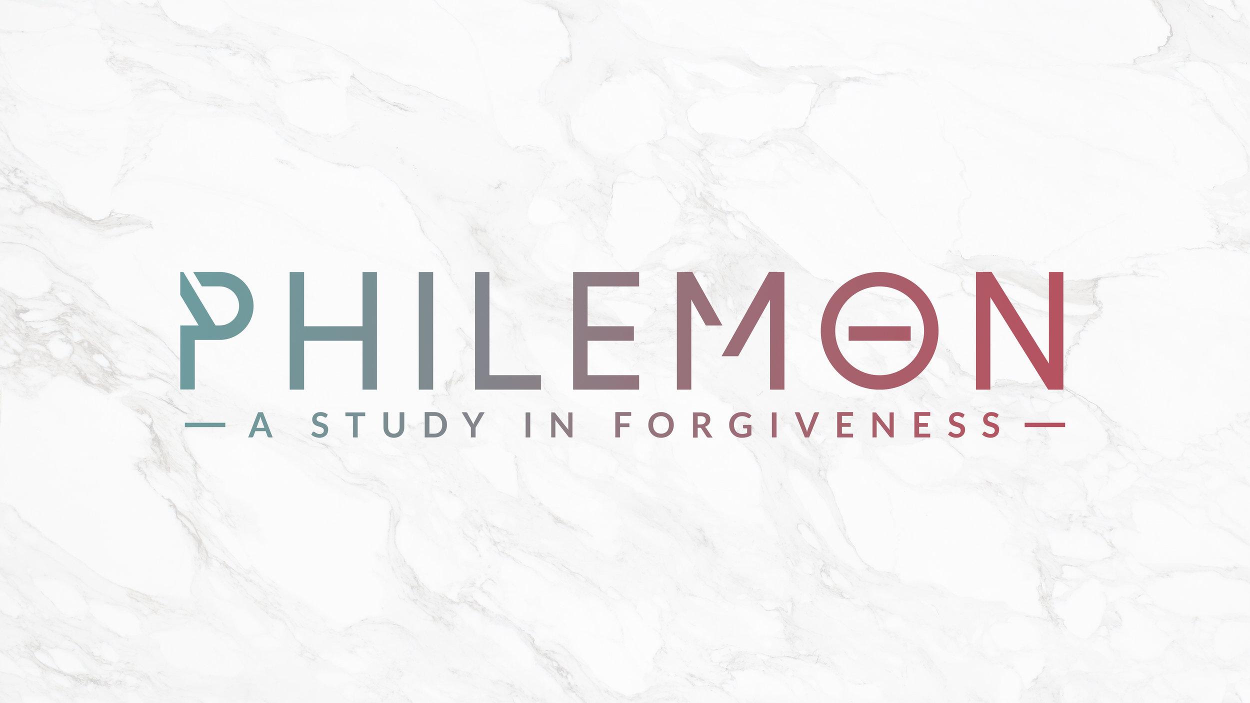 Philemon   A Study in Forgiveness